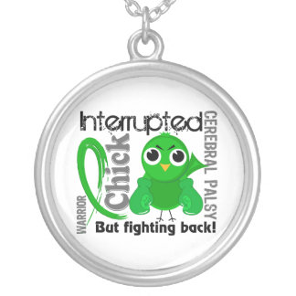Chick Interrupted 3 Cerebral Palsy Round Pendant Necklace