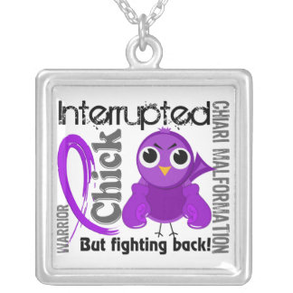 Chick Interrupted 3 Chiari Malformation Silver Plated Necklace