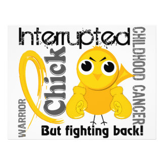 Chick Interrupted 3 Childhood Cancer Flyers
