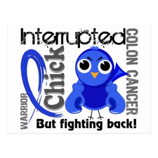 Chick Interrupted 3 Colon Cancer Postcard
