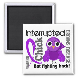 Chick Interrupted 3 Crohn's Disease 2 Inch Square Magnet
