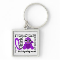 Chick Interrupted 3 Crohn's Disease Keychain