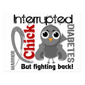 Chick Interrupted 3 Diabetes Postcard