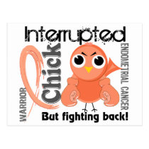 Chick Interrupted 3 Endometrial Cancer Postcard