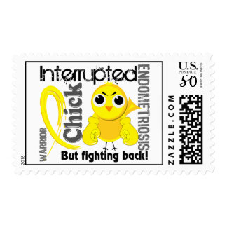 Chick Interrupted 3 Endometriosis Postage