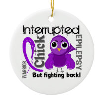 Chick Interrupted 3 Epilepsy Ceramic Ornament