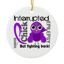 Chick Interrupted 3 Epilepsy Ceramic Ornament