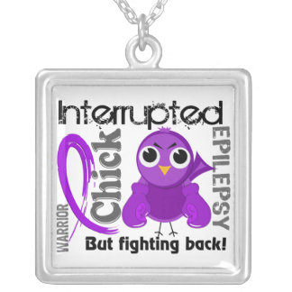 Chick Interrupted 3 Epilepsy Silver Plated Necklace