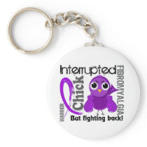 Chick Interrupted 3 Fibromyalgia Keychain