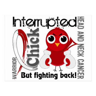 Chick Interrupted 3 Head and Neck Cancer Postcard