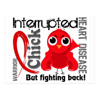 Chick Interrupted 3 Heart Disease Post Card
