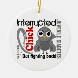 Chick Interrupted 3 Juvenile Diabetes Double-Sided Ceramic Round Christmas Ornament