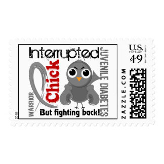 Chick Interrupted 3 Juvenile Diabetes Postage Stamps