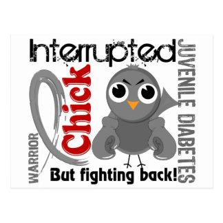 Chick Interrupted 3 Juvenile Diabetes Postcard