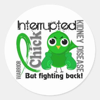 Chick Interrupted 3 Kidney Disease Classic Round Sticker