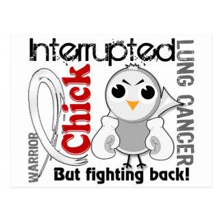 Chick Interrupted 3 Lung Cancer Postcard
