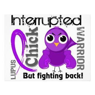 Chick Interrupted 3 Lupus SLE Flyer Design