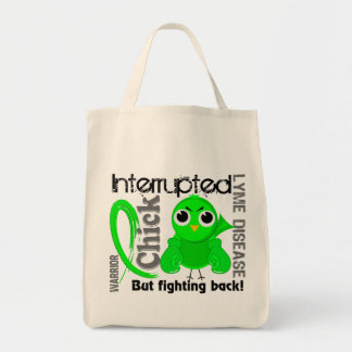 Chick Interrupted 3 Lyme Disease Grocery Tote Bag