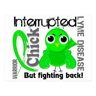 Chick Interrupted 3 Lyme Disease Postcard