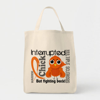 Chick Interrupted 3 Multiple Sclerosis MS Canvas Bags