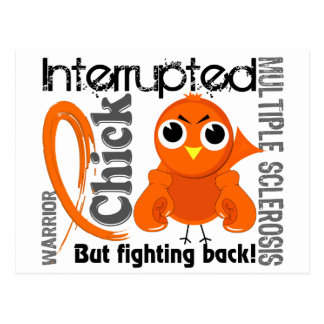 Chick Interrupted 3 Multiple Sclerosis MS Postcard