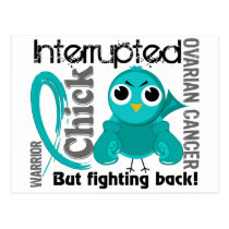 Chick Interrupted 3 Ovarian Cancer Postcard