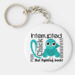 Chick Interrupted 3 PCOS Polycystic Ovary Syndrome Keychains