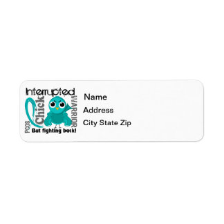 Chick Interrupted 3 PCOS Polycystic Ovary Syndrome Return Address Labels