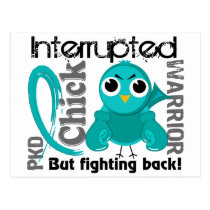 Chick Interrupted 3 PKD Polycystic Kidney Disease Postcard