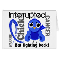 Chick Interrupted 3 Rectal Cancer / Anal Cancer Card