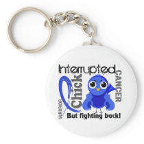 Chick Interrupted 3 Rectal Cancer / Anal Cancer Keychain