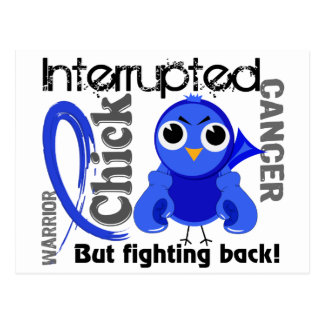 Chick Interrupted 3 Rectal Cancer / Anal Cancer Postcard