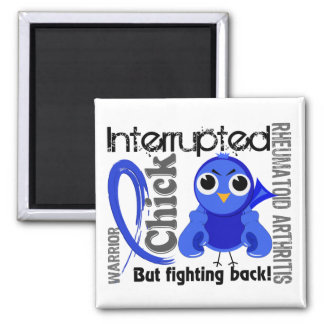 Chick Interrupted 3 Rheumatoid Arthritis RA 2 Inch Square Magnet