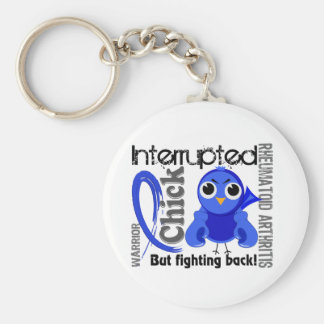Chick Interrupted 3 Rheumatoid Arthritis RA Basic Round Button Keychain