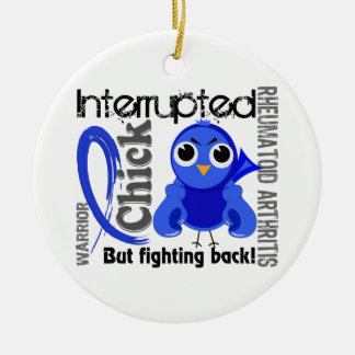 Chick Interrupted 3 Rheumatoid Arthritis RA Double-Sided Ceramic Round Christmas Ornament