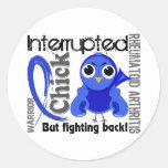 Chick Interrupted 3 Rheumatoid Arthritis RA Round Stickers