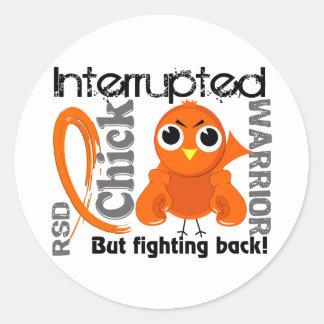 Chick Interrupted 3 RSD Reflex Sympathetic Dystrop Classic Round Sticker
