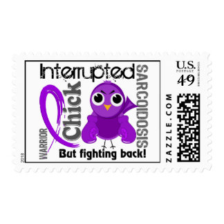 Chick Interrupted 3 Sarcoidosis Postage Stamps