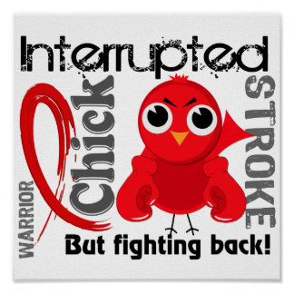 Chick Interrupted 3 Stroke Poster