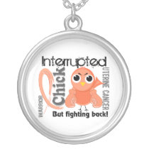 Chick Interrupted 3 Uterine Cancer Silver Plated Necklace