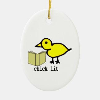 Chick Lit Ceramic Ornament