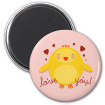 CHICK LOVE YOU! - magnet