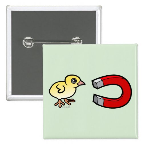 Chick Magnet 2 Inch Square Button