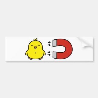 Chick Magnet Bumper Sticker
