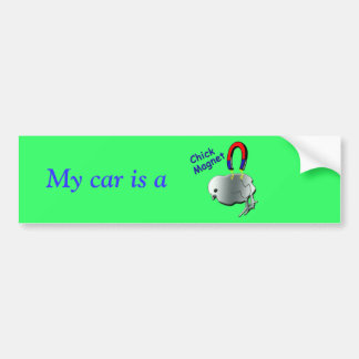 Chick Magnet Car Bumper Sticker