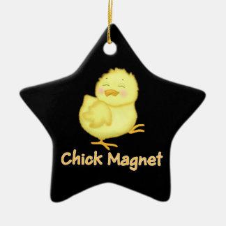 Chick Magnet Ceramic Ornament