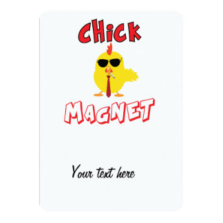 Chick magnet 5x7 paper invitation card