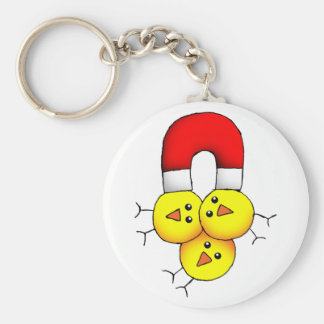Chick Magnet Keychain