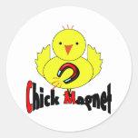 Chick Magnet Round Sticker
