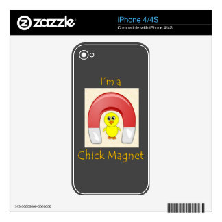 Chick Magnet Skins For iPhone 4